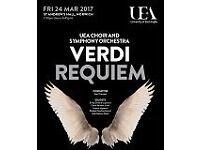 UEA Choir and Symphony Orchestra - Verdi Requiem