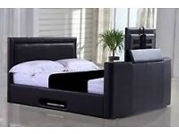 BRAND NEW - TV BED FRAME IN KING SIZE - FREE DELIVERY - MATTRESSES AVAILABLE - DELIVERED