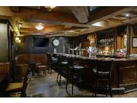 Part Time Bar Staff Required for Public Bar in Village Hotel