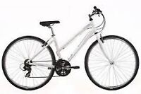 Ladies white Raleigh mountain bike in excellent condition.