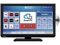 """Toshiba 24"""" Full HD Ultra Slim LED Smart TV with WiFi, DVD & Freeview"""