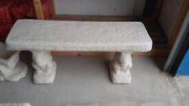 Gorgeous New Stone Garden Bench with Squirrel Legs
