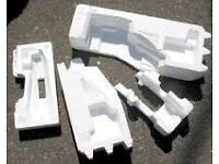 assorted polystyrene shapes and blocks