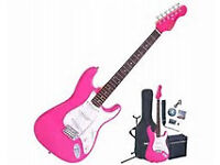 Electric Guitar Kit new and still in box BLACK&WHITE NOT PINK
