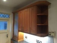 Kitchen with solid oak doors, appliances and granite worktop - good quality used. Offers £400