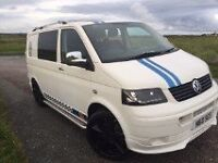 IMMACULATE HEADTURNER VW T5 CAMPERVAN TOP SPEC ALLOY WHEELS REMAPPED ENGINE LEATHER SEATS