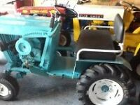 antique lawn tractor