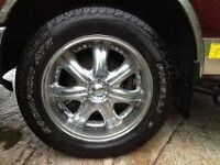 F150 6 bolt aftermarket rims and tires .Price reduced !