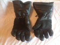 Motorbike padded gauntlet gloves