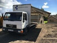 Man Lorry 7.5 Tonne Side Opening Dhollandia taillift