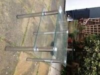 Small Glass & Chrome Table