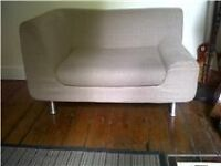 BRAND NEW HABITAT ONE/TWO SEATER BEIGE/CREAM SOFA LOVE SEAT - MODERN CONTEMPORARY PRISTINE CONDITION