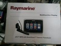 New in box Raymarine a78 chartplotter/fishfinder with downscan