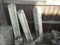 Used concrete posts