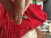 0.27 carat diamond ring, 18 carat white gold.