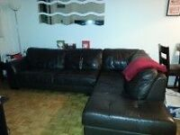 soft leather sectional