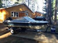 "17"" fishing boat & trailer $3000obo"