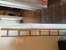 40 FT KITCHEN CUBOARDS    OAK TRIM WITH SPINDLES