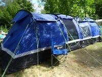 Hi Gear Kalahari 10 Person Family Tent with Porch, Carpet and Footprint