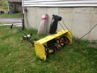 john deere rider lawnmower snowblower
