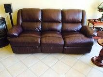 Leather Lounge Suite (3 seater & 2 chairs) 4 Recliners Albert Park Charles Sturt Area Preview