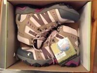 Walking boots, New, Boxed, Made by Gelert, Fully water proof, Size 7.5 or 41 EU size.