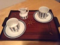 Royal doulton moonstone 3 pieces