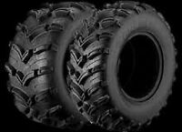 BRAND NEW - Set of Moose 901X ATV Tires 25x8-12, 25x10-12