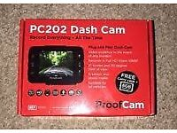 Dashcam Proof Cam PC202 (Brand new dash cam in a sealed box)