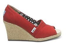 Toms size 5.5 red wedges