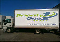 PRIORITY ONE MOVING  *** $550.00*** MONCTON TO SAINT JOHN