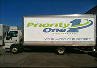 PRIORITY ONE MOVING **Flat Rate** $500 Fredericton to Moncton