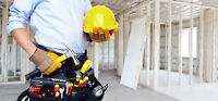 Services for installing drywall, mud/tape and painting