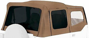 REPLACEMENT SOFT TOP + UPPER SKINS SPICE 1988-1995 FOR JEEP WRANGLER YJ