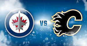 **SAT NIGHT GAME** 2 P6 tickets to Flames vs Jets $172 for both