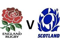 England vs Scotland 6 Six Nations rugby tickets * 2