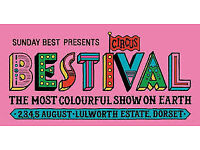 3 x early bird Bestival weekend camping tickets and car park ticket (plus 3 x refundable ecobands)