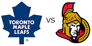 Ottawa Senators vs Toronto Maple Leafs Tickets 100 Level Premium
