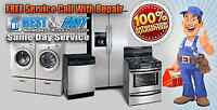 MAJOR APPLIANCE REPAIR SERVICE - Over 45 years experience