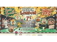 HSBC London 7's tickets x six for the 21 May - Sunday