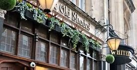 SW1A- Full time bar and waiting staff wanted for beautiful Central London pub- under new management!