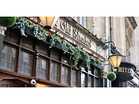 Full time bar and waiting staff wanted for beautiful Central London pub- under new management!
