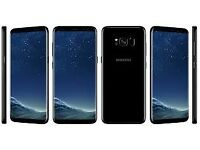 Samsung Galaxy S8 64GB Midnight Black, (Wireless Charger & VR) Unlocked - SWAP for iPhone 7/8 Plus