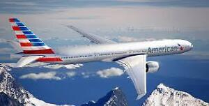 2 AMERICAN AIRLINES VOUCHERS FLEXIBLE AIRLINE PARTNERS