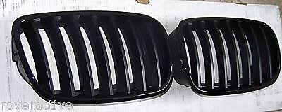BMW Brand 2007+ E70 X5 E71 E72 X6 2008+ Genuine Gloss Black Grille Pair New