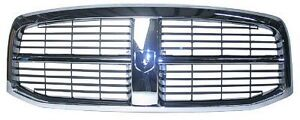NEW 2006-2009 DODGE RAM 1500 2500 3500 CHROME AND BLACK GRILLE