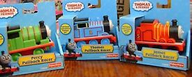 New box Thomas and friends pullback racers Thomas, Percy, James full Set Retail over £40 all