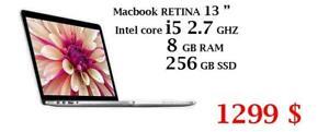 MACBOOK RETINA 13 i5 2.7 GHZ 8GB 128 GB+ OFFICE PRO 2016,FINAL CUT PRO X,LOGIC PRO X,MASTER SUITE ADOBE