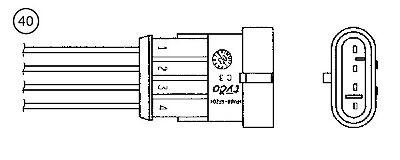 Lambda Sensor NGK (NTK) OZA334-A1 Fits Front