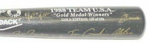1988 OLYMPIC BASEBALL TEAM AUTOGRAPHED  BAT